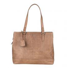 "Burkely Croco Caia Handbag M 13.3"" Taupe"