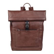 """Burkely Suburb Seth Backpack Rolltop 15.6"""" Brown"""