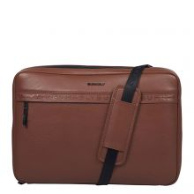 """Burkely On The Move Bold Bobby Sleeve Crossover 15.6"""" RFID Cognac"""