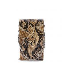 MOSZ Phonebag Schoudertas Python Brown Chocolate