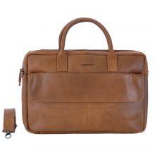 """DSTRCT Special Laptopbag 2-vaks 15.6"""" Cognac"""