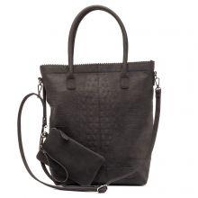 Zebra Trends Natural Bag Kartel Rits Croco Black