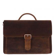 "Plevier Retro Darwin Vintage Laptop Bag 2-Vaks 15.6"" Brown"