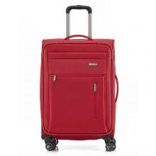 Travelite Capri 4 Wheel Trolley M Expandable Red