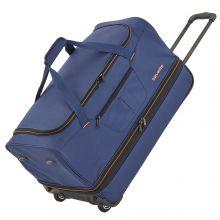 Travelite Basics Wheeled Duffle 70cm Expandable Navy/Orange