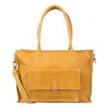 "Cowboysbag Laptop Bag Edgemore 15.6"" Schoudertas Amber"