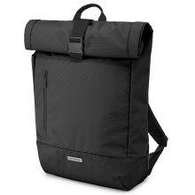 """Moleskine Metro Rolltop Backpack 15"""" Black"""