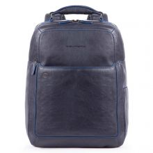 """Piquadro Blue Square S Matte Fast Check Computer 15.6"""" Backpack Blue"""