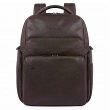 Piquadro Black Square Computer iPad Backpack RFID Dark Brown