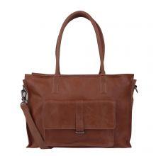 "Cowboysbag Laptop Bag Edgemore 15.6"" Schoudertas Cognac"