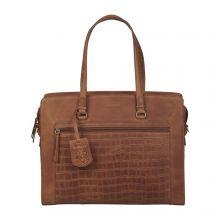 "Burkely Croco Cassy Workbag 15.6"" Cognac"