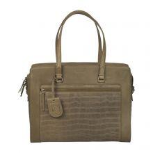 "Burkely Croco Cassy Workbag 15.6"" Green"