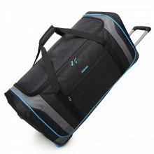 Decent Flexplus Reistas Met Wielen 78cm Zwart/Blauw