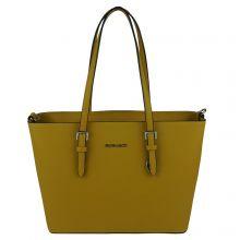 Flora & Co Shoulder Bag Saffiano Yellow