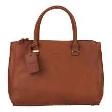 Burkely Vintage Wieske 2-Zipper Shoulder Bag Cognac