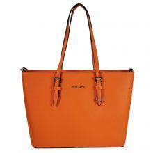 Flora & Co Shoulder Bag Saffiano Orange