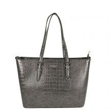 Flora & Co Shoulder Bag Shopper Croco Grey