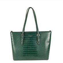 Flora & Co Shoulder Bag Shopper Croco Green