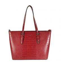 Flora & Co Shoulder Bag Shopper Croco Red