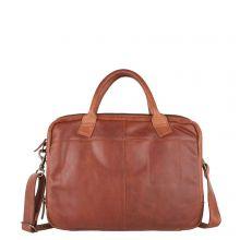 "Cowboysbag Laptop Bag Fairbanks Schoudertas 15"" Cognac"