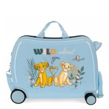 Disney Rolling Suitcase 4 Wheels Before The Bloom Lion