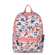 Pick & Pack Fun Rugzak L Birds Soft Pink