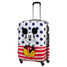 American Tourister Disney Legends Spinner 75 Mickey Blue Dots