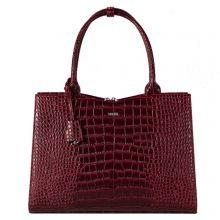 """Socha Businessbag Croco 14-15.6"""" Crocodile Burgundy"""