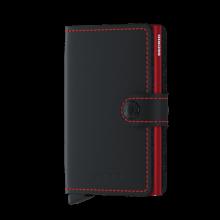 Secrid Mini Wallet Portemonnee Matte Black/ Red