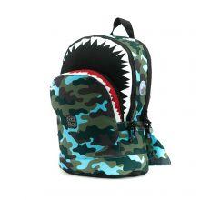 Pick & Pack Fun Rugzak M Shape Shark Camo Light Blue