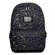 Superdry Montana Print Edition Backpack Animal Dark Marl Lime