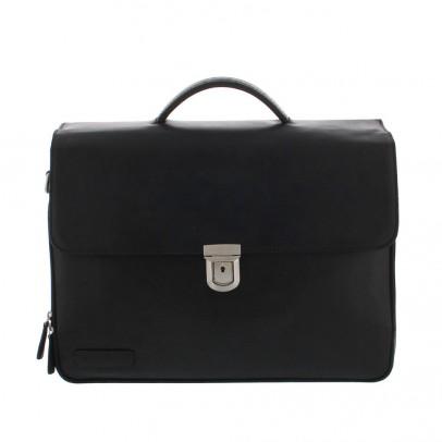Plevier Vintage Tanned Business/ Laptoptas 3-vaks Black 33