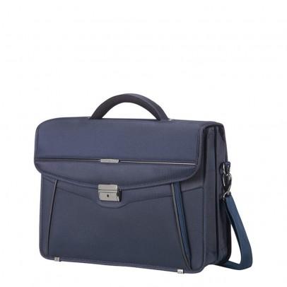 "Samsonite Desklite Briefcase 2 Vaks 15.6"" Blue"