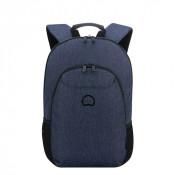 "Delsey Esplanade Laptop Backpack 2-CPT 13.3"" Navy"