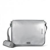 Bree Punch 49 Messenger Bag Shiny Silver