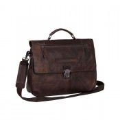 "Chesterfield George Business Bag Aktetas 14"" Brown"