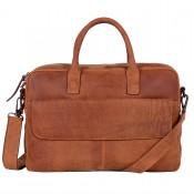 DSTRCT Wall Street Business Laptoptas 17'' Cognac 76420