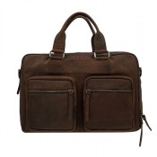 DSTRCT Wall Street Business Working Bag Laptoptas 15.6'' Brown 76620