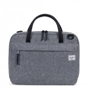 Herschel Gibson Laptop Schoudertas Raven Crosshatch