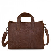 Myomy My Paper Bag Handbag Cross-Body Anaconda Brandy