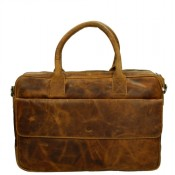 "MicMacbags Colorado Laptop 15.6"" Schoudertas Cognac 16188"