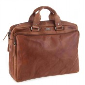 "Spikes & Sparrow Bronco Business Bag 15.6"" Brandy 23824"