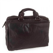 "Spikes & Sparrow Bronco Business Bag 15.6"" Dark Brown 23824"
