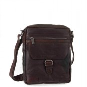 Spikes & Sparrow Bronco Crossbody Schoudertas Dark Brown 24251