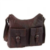 Spikes & Sparrow Bronco Zip Bag Dark Brown 292E131