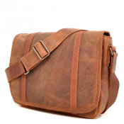 Barbarossa Ruvido Courier Bag Schoudertas Coffee