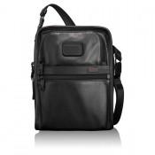 Tumi Alpha 2 Leather Travel Organizer Tote Black