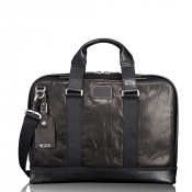 Tumi Alpha Bravo Andrews Slim Brief Black Leather