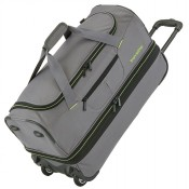 Travelite Basics Wheeled Duffle 70cm Expandable Grey/Green