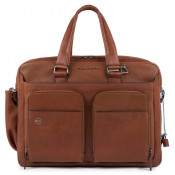 "Piquadro Bagmotic Computer Bag 15"" Tobacco"